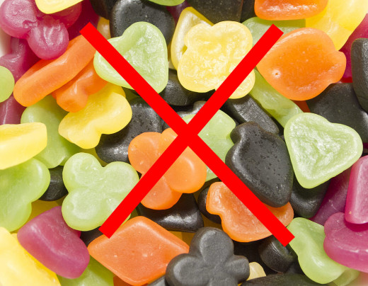 No gummy candy