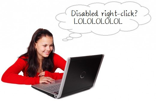 What readers think when you disable right-click (Image via Pixabay Public Domain)