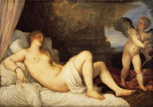 Titian, Danae (1544-1546), Naples Capodimonte Museum