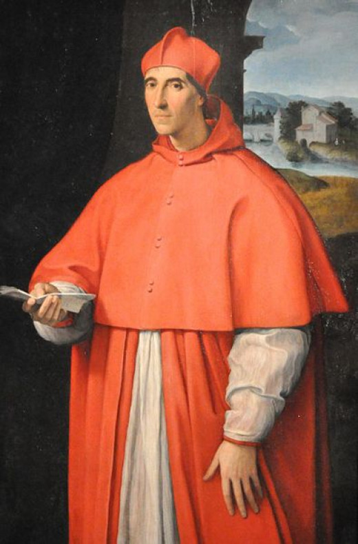 Rapahel, Portrait of the Cardinal Alessandro Farnese  (1512), Naples Capodimonte Museum - The cardinal Alessandro Farnese Senior, who will become Pope in 1534, with the name of Paul III, was portrayed by Raphael at the age of 44