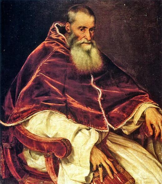 Titian, Portrait of Paul III (1543), Naples Capodimonte Museum
