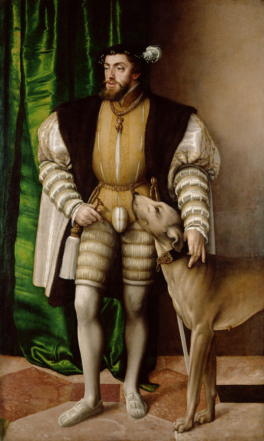 Titian, Portrait of Charles V with His Dog (1533), Madrid Prado Museum
