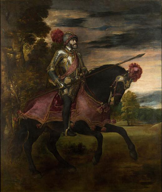 Titian, Equestrian Portrait of Charles V (1548), Madrid Prado Museum