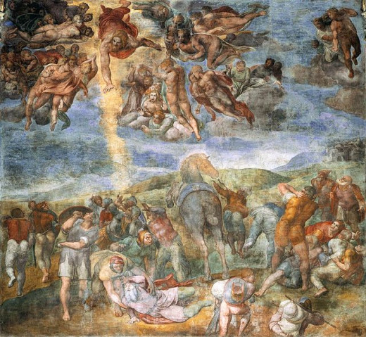 Michelangelo, Conversion of Saul (1542-1545) Vatican Palaces Cappella Paolina