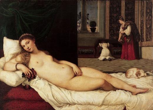 Titian, Venus of Urbino (1538), Florence Galleria degli Uffizi