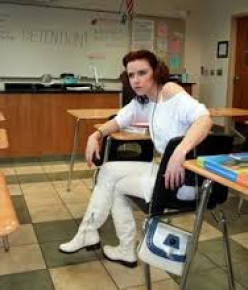 """She is so angry that she got caught """"cutting"""" class. So now she gets detention"""