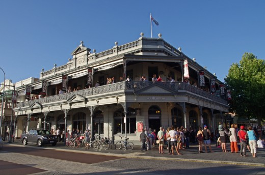 The Sail and Anchor Hotel in Fremantle, Western Australia, where the Matilda Bay Brewing Company first made batches of beers that would come to include Beez Neez, a specialty honey-infused wheat beer.