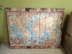 How to Make a Map Wall Hanging