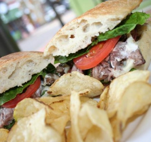 Steak and Cheese Sandwich