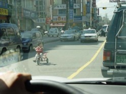 Often in China there is much traffic congestion.