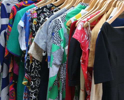 Checking your wardrobe for clothes, chuck out the old and out of fashion ones