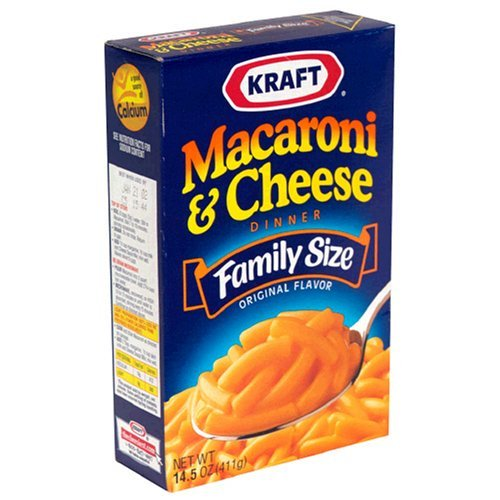 Macaroni and cheese, cheap, delicious, and nostalgic.  This is #2 on my list of top 5 college foods.