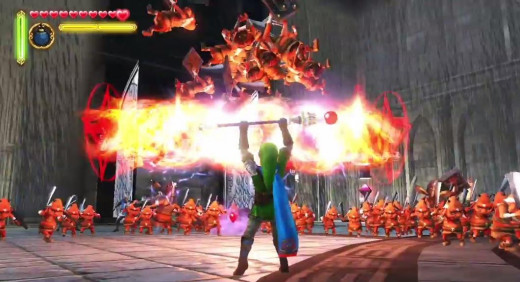 Link burns them up with the Magic Rod.