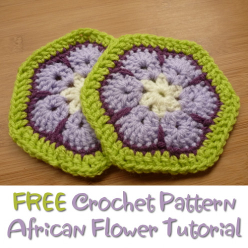 Come see the photos and tutorial to make these African Flower crochet designs