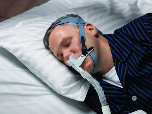 Sleep apnea is treated by such measures as weight loss, surgery, and continuous positive airway pressure (CPAP), which is supplied by a mask that provides air pressure that keeps the airway open during sleep.