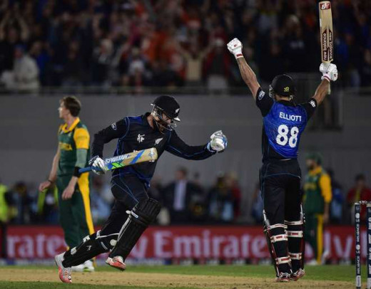 Elliott Celebrating New Zealand Victory