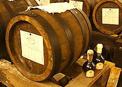 Balsamic Vinegar aging in barrels