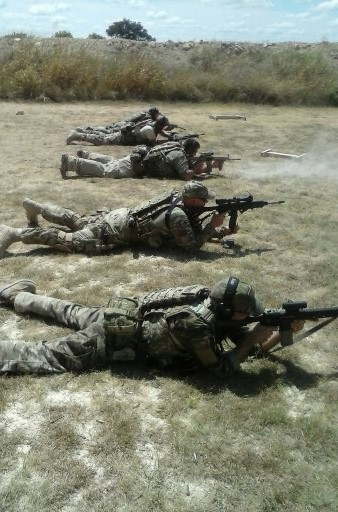 Firing from a prone position