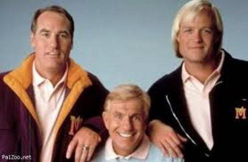 """Craig T. Nelson, Bill Fagerbakke, and Van Dyke of the hit show, """"Coach"""""""