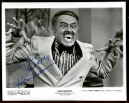 This is Harvey Korman in High Anxiety. He is seen, here, without his old reliable comedic foil, Tim Conway---who is not in this movie. Mr. Korman and Mr. Conway were the mainstays of The Carol Burnett Show. And yes, he is pretending to be a vampire.