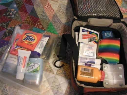 Packing Toiletries in plastic Bags