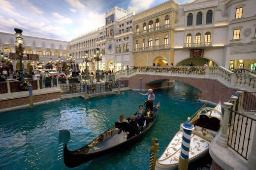 A Gondola at The Venetian