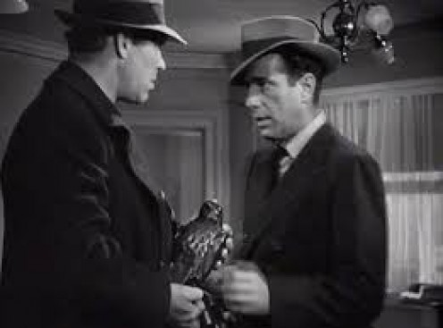 Bond and Humphrey Bogart in one of Bogie's successful films