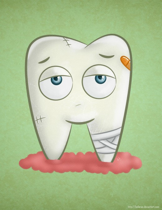 Tooth Cartoon Cavity