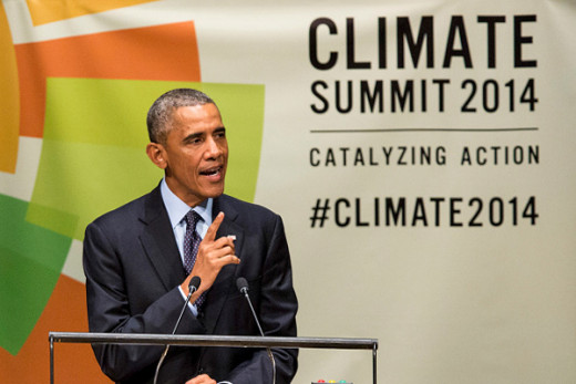 Also president Obama has delivered a few good speech about climate changes, but not enough has been done since then.