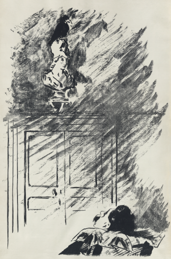"Poe's ""The Raven"" as illustrated by Édouard Manet."