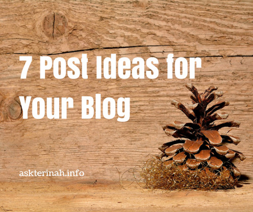 Seven Easy Topic Ideas for Your Blog