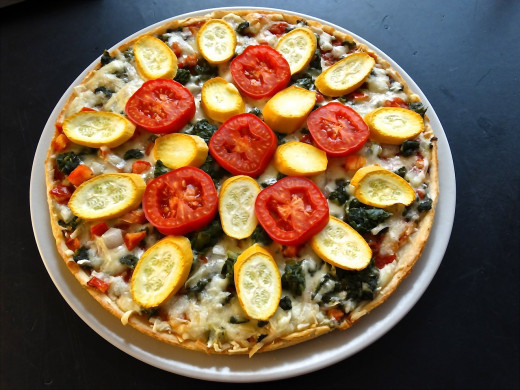 Many delicious treats can be made vegan and vegetarian friendly. Such as this vegan pizza.