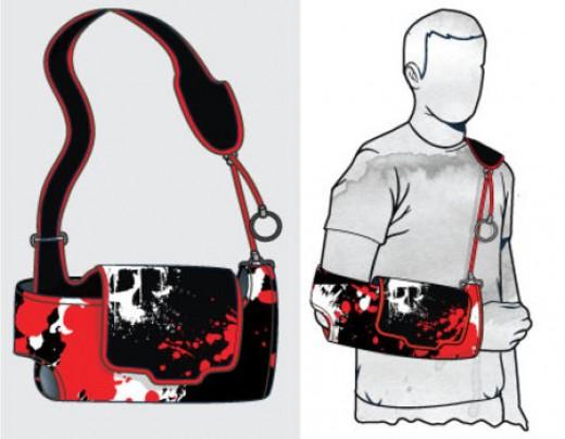 broken arm sling. Skull Sling