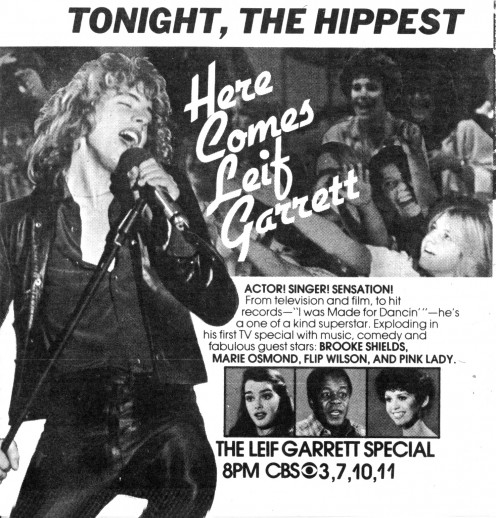 TV Guide ad for Here Comes Leif Garrett his TV special from 1979