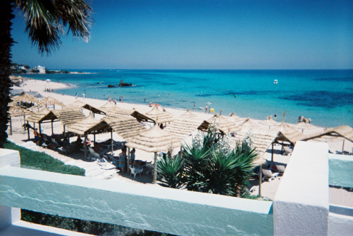 The Beach at The Bel Azur Hotel, Hammamet
