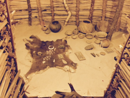 The inside of the Hohokam Pit House