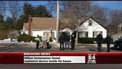 Milton, Mass home rigged with explosive device set to go off with a flick of a light switch?