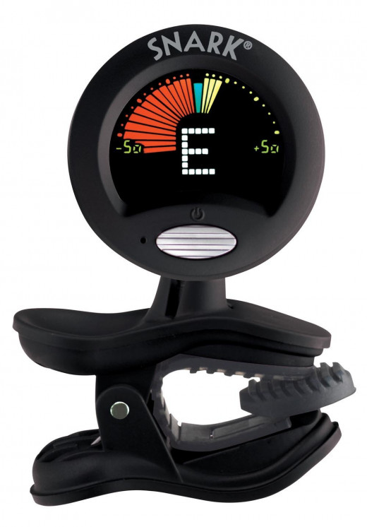A tuner like the Snark SN-5 is an essential accessory for electric guitar players.