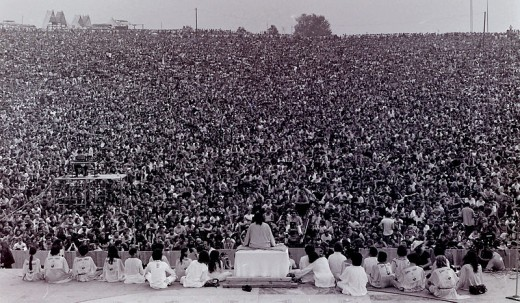 Opening ceremony at Woodstock, 14 August 1969
