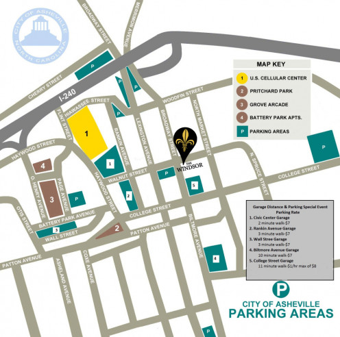 There are plenty of places to park in Asheville