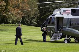 "The president's helicopter is named: ""Marine One"""