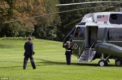 """The president's helicopter is named: """"Marine One"""""""