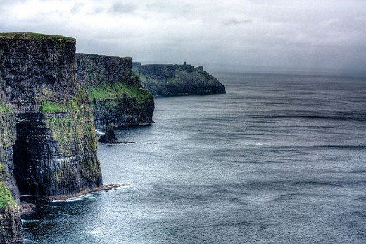 The Cliffs of Moher in County Clare, Ireland are also known as Ceann Cailli, which is named after the witch goddess Cailleach.
