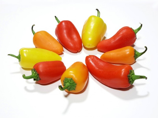Red, orange, yellow, and green peppers are all  nightshade vegetables.