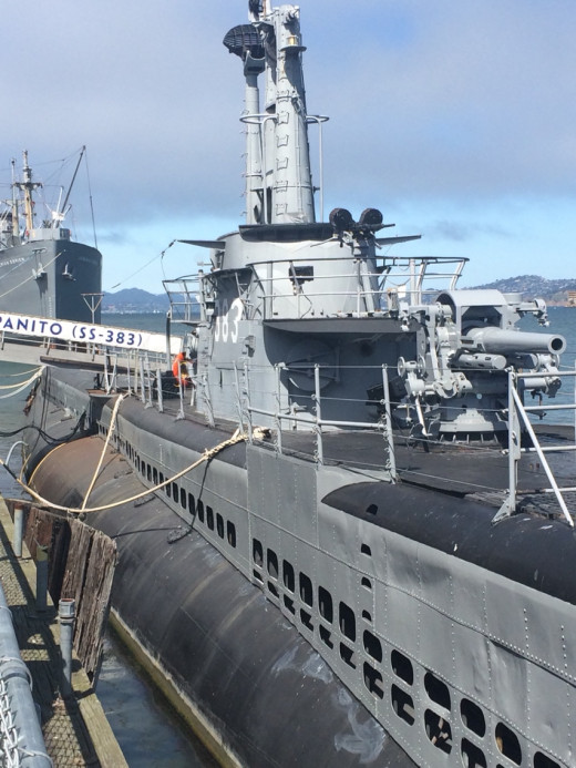 WW2 ships to board and explore.