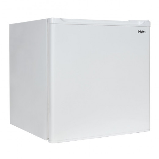 The Haier HCR17W has a capacity of 1.7 Cubic Feet, which is split between refrigeration and freezing.  It has 2-liter bottle storage, and is perfect for dorm rooms, bar units and other locations that need compact refrigeration.