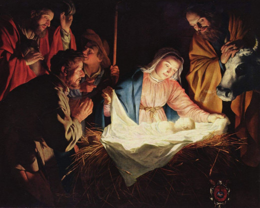 Gerard van Honthorst- The Adoration of the Shepherds.