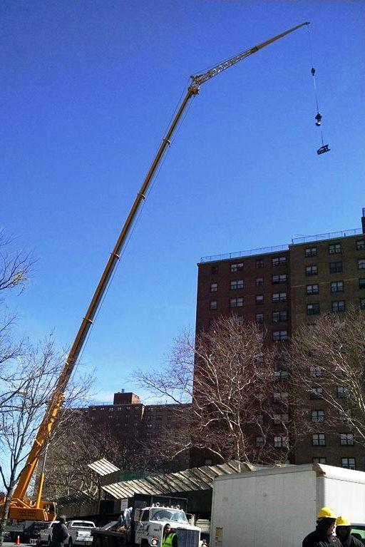 Installation using a crane; photo by Randi Glazer
