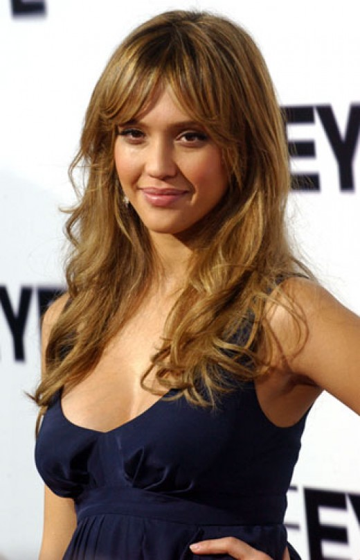 man with Bohemian look hairstyle. Jessica Alba Celebrity Hairstyles
