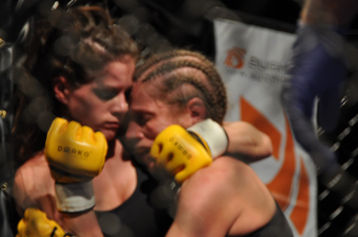 Head pressure is an important component of effective clinch fighting.
